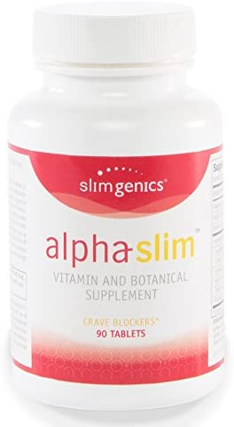 SlimGenics Alpha-Slim Carb Blocker, Block Up to 300 Calories Per Meal – Reduce Cravings, Increase Fat Burning, Includes White Kidney Bean Extract – Promotes Healthy Weight Loss 90 Count