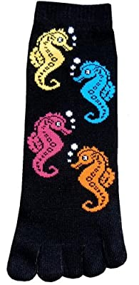 Sea Horse Toe Socks New Gift Fun Unique Cute