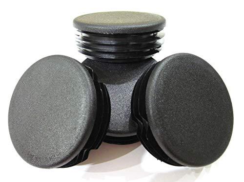 4pcs Pack: 2 3/4 Inch Round Black Plastic Tubing Plug (for Hole Size 2 1/2