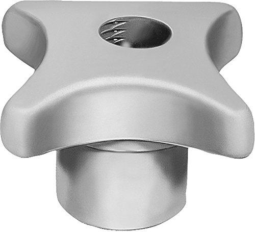 Gray Tumbled Finish Kipp 06190-14 Cast Iron Quick-Fastening Palm Grips Metric 70 mm Top Length