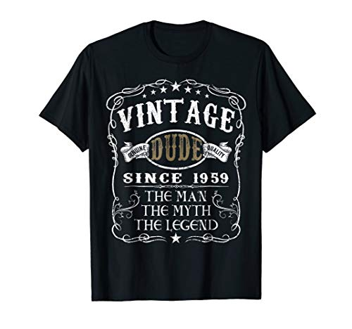 60 Years Old 1959 Vintage 60th Birthday T Shirt -