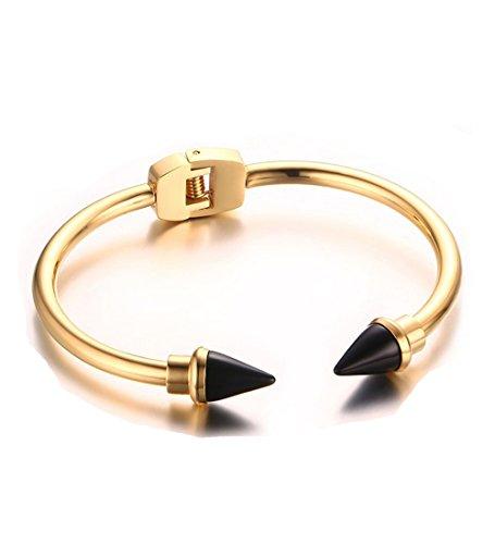 Womens Titanium Stainless Bracelet Two Tone