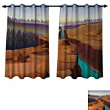 Best Norbi Curtains For Living Rooms - Anzhouqux Southwestern Blackout Thermal Backed Curtains for Living Review