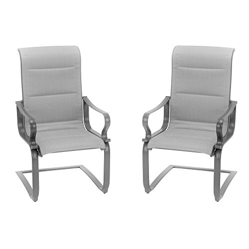 Cosco Outdoor Living 88408GLGE Smart Connect Motion Patio Chair, 2-Pack, Gray (Chairs Patio Furniture Motion)
