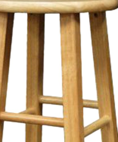 Winsome Wood 29-Inch Square Leg Barstool Natural Finish, Set of 2