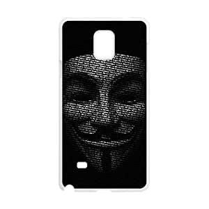 black mask Samsung Galaxy Note 4 Cell Phone Case White cover xx001-3023165