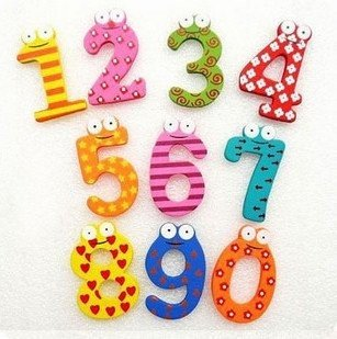 NEW Cartoon Wooden Fridge Magnet Number 0-9 /& Sign Alphabet for Kids Educational