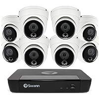 Swann NVR8-8580 4K Dome Professional Series IP Digital Still Image Video Cameras, 8 x NHD-888MSD 4K Cameras, 2TB Storage