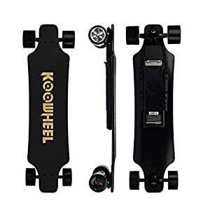 Newly 2020 Upgraded Koowheel 2nd Generation Electric Skateboard with New Improved Battery and Connector | Perfect for Daily Commute|Speed 43 km/h| Max Load 130kg| Hill Grade 25%| 5500mAh