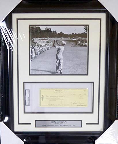 Autographed Ben Hogan Photograph - Framed 8x10 Check Stock #123763 - PSA/DNA Certified - Autographed Golf Photos (Golf Autograph Certified Photo 8x10)