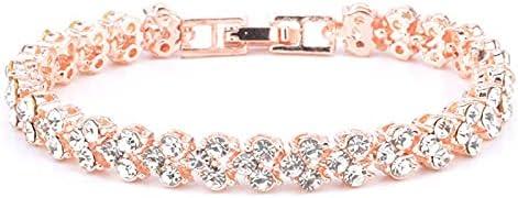 925 silver Bangle Bracelets for Women,Roman Style Woman Crystal Diamond Bracelets Gifts Jewelry,Classics,Elegant,Vintage Store