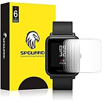 SPGuard Compatible with Amazfit Bip LiQuidSkin Screen Protector [6-Pack], Amazfit Bip Smartwatch Screen Protectors Screen HD Clear Film Anti-Bubble ...