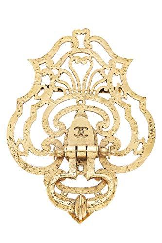 CHANEL 1970s Gold Door Knocker Brooch (Pre-Owned)]()