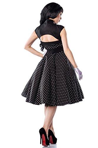 50años de Rockabilly Polka Dot vestido con lazo a12119 schwarz (Sw 16)