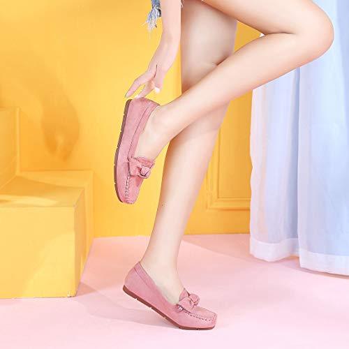 größe Faul Flache Einzelne Schuhe Peas Bow Farbe 38 Schuhe Weibliche Schuhe Bottom Mutterschaft Schuhe Herbst Optional Sozial Ferse Pink Farbe Weiche xSBpvqw