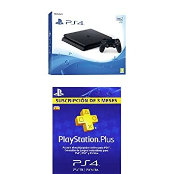 PlayStation 4 Slim (PS4) - Consola de 500 GB + PSN Plus ...