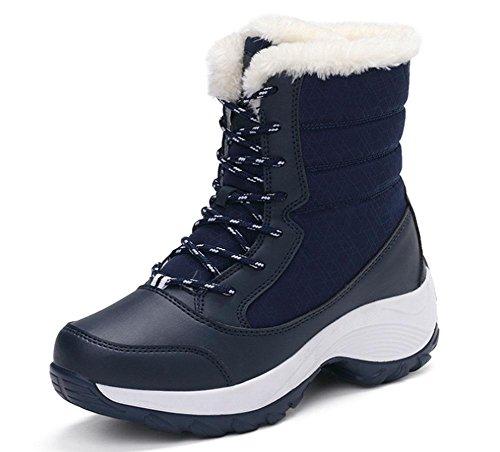 Botas A Mujer Encaje Zapatos Salvaje Alto Agua De Algodón Prueba Ayudar Para Terciopelo Además Nieve Meili 004 qwtSPC