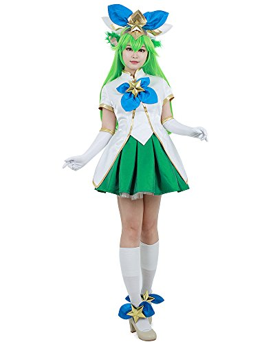Miccostumes Women's League Of Legends Star Guardian Lulu Cosplay Costume (women l)