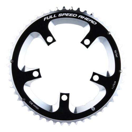 - FSA Super Road 50 -Tooth/10-Speed Chainring (110mm, Black)