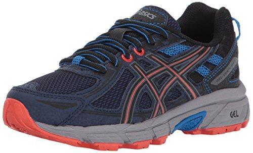 Asics Unisex Kids Gel Venture 6 Gs Running Shoe  Indigo Blue Black Electric Blue  4 Medium Us Big Kid