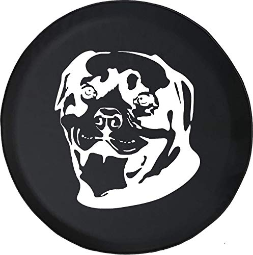 American Unlimited Spare Tire Cover Rottweiler Rotty Dog Lover K9 fits Jeep Bark Fits Jeep Rubicon Sahara JK TJ or RV Accessories Camper 30 in