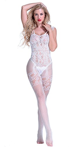 Amstt-Women-Lingerie-Fishnet-Floral-Crotchless-Bodystockings-Babydoll-Bodysuits