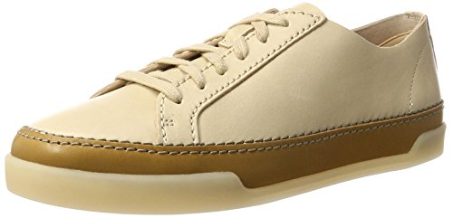 Sneakers Leather Hidi Femme Clarks Beige Basses nude Holly SawWWq6