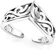 Sterling Silver Tiara Adjustable Toe Band Ring