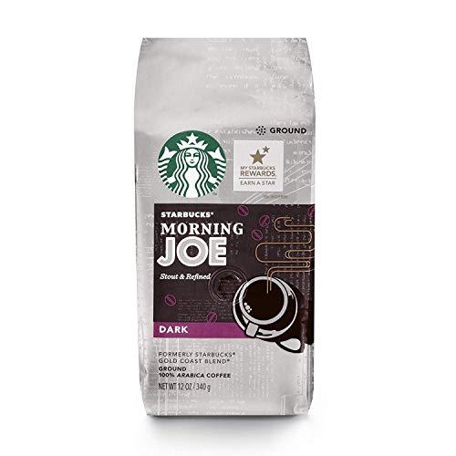 Starbucks Morning Joe Gold Coast Dark Roast Ground Coffee, 12-Ounce Bag