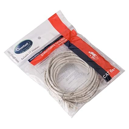 quantum ethernet patch cord cat5 rj45 lan straight cable category 5e rh amazon in