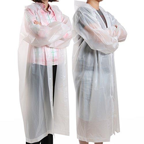 kilofly Waterproof Ultra Light Drawstring Raincoat Long Sleeve Hood Rain Poncho by kilofly