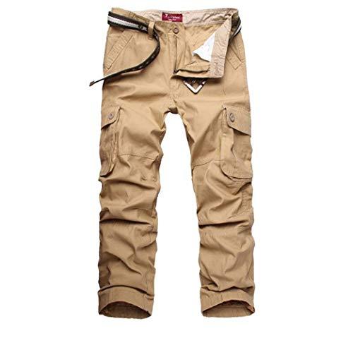 Kaki Air De Plein Pour Multi Vêtements Pantalons Long Hommes Casual Poche fRqvx1p