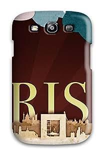 Cute Appearance Cover/tpu LHVyAvw1256lOrCl Paris Scrap Art Case For Galaxy S3 by supermalls