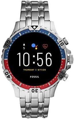 Fossil Smartwatch Pantalla táctil para Hombre de Connected con Correa en Acero Inoxidable FTW4040