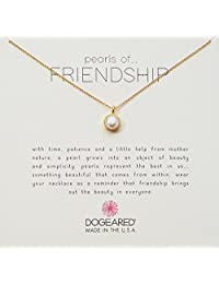 Dogeared Gold Bezel Pearls of Friendship Chain Necklace