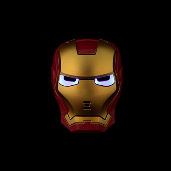 Sprint4Deals Authorized Seller, Avengers LED Mask, Cool Avengers Glowing Mask for Halloween, Masquerade Parties, Themed Party (Iron Man)