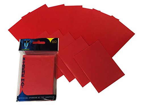 Max Protection 300 Double Matte Deck Protector Sleeves for Gaming Cards, Red