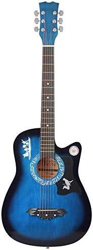 ギター ギターバッグ/ピック/ストラップ付き初心者のため1PCS学生軽量38インチ・6弦アコースティックギター木製ギター クラシック ギター (Color : Pink, Size : 53 x 17 x 5cm)
