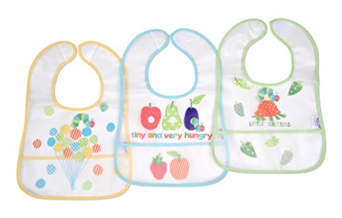 Eric Carle Very Hungry Caterpillar 3 Piece The Very Hungry Caterpillar Baby PEVA Water-Resistant Bib]()