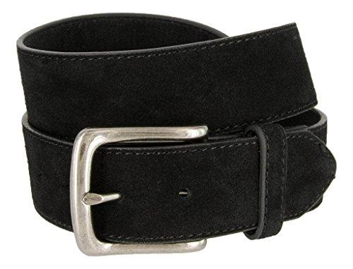 (Casual Jean Suede Leather Belt for Men (Black, 42))
