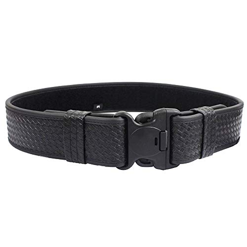 (LytHarvest Reinforced 2-Inch Basketweave Web Duty Belt with Loop Inner, Basketweave Duty Belt (Medium, 34-40))