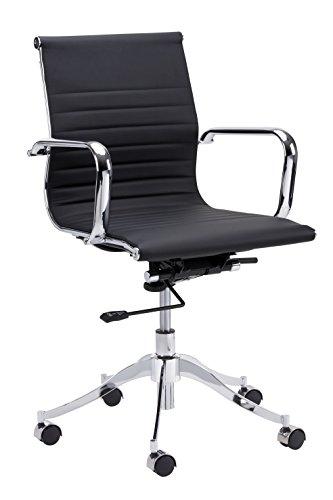 Sunpan Modern 102684 Tyler Full Back Office Chair, Onyx