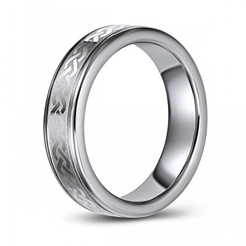 Celtic Braid Wedding Band or Fashion Ring in Tungsten – Classic – Traditional – Comfort Fit – Durable – Scratch Resistant - Engraveable
