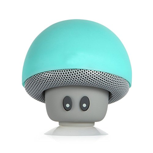 WONFAST® Portable Mini Cute Mushroom Style Bluetooth Wireless Stereo Speakers Hands Free Speakerphone with Built-in Mic for iPhone/iPad/Samsung/HTC/LG/SONY Android cellphone (Teal) by WONFAST