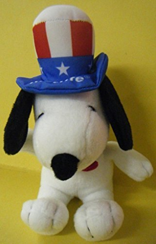 Metlife Peanuts Plush Snoopy as Uncle Sam - America ()