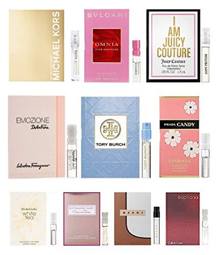 10 Women's Designer Fragrance Vial Sample