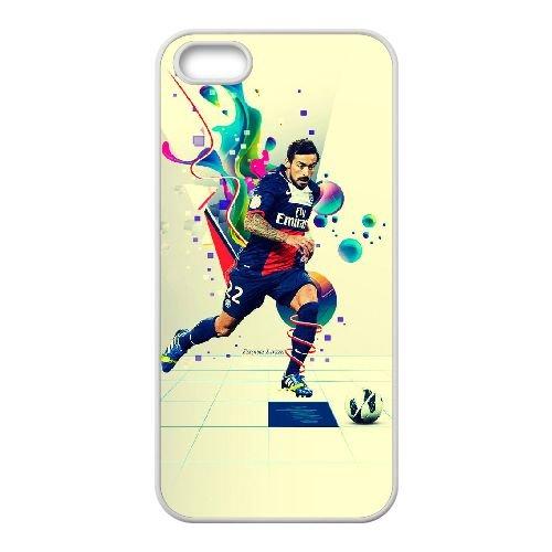 L8S18 Ezequiel Lavezzi PSG S9P7BV coque iPhone 5 5s cellule de cas de téléphone couvercle coque blanche XE3NEQ1YH