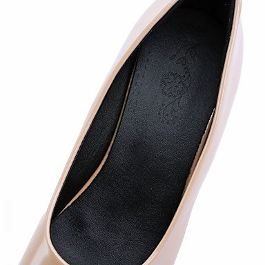 pwne Tacones Mujer Verano Otoño Comfort Novedad Charol Sintético Pu Oficina Boda &Amp; Carrera Paseos Ocasionales Chunky Heel Lace-Upred Beige US5.5 / EU37 / UK4.5 Big Kids
