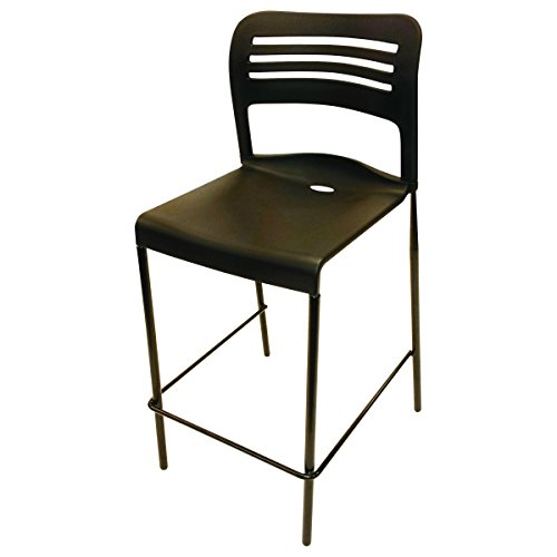 Alera Plus BS612 Counter Height Stacking Stool, Black (Case of 2) by Alera