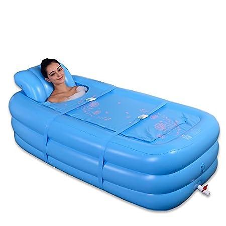 LybCvad XL bañera inflable baño adulto familia bañera de ...